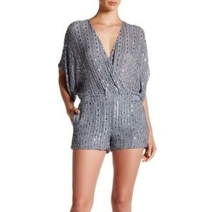 Parker Black Vicky Beaded Romper